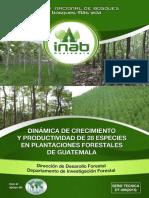 Dinámica de Crecimiento y Productividad de 28 Especies en Plantaciones-VF