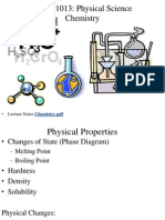 PHSC1013 Chemistry