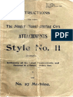 Attachments Guide for Singer 27