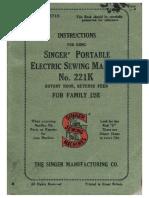Singer 221K FW Instruction Manual