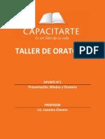 (01C) Oratoria - Presentación, Miedos y Oratoria (Apunte)