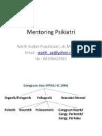 Mentoring Psikiatri