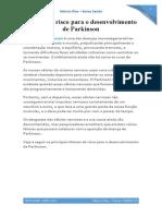 fatores de risco para o desenvolvimento de parkinson