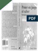 Alicia Fernández. Poner en Juego El Saber