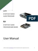 MiniDSP 2x4 and Kit - User Manual