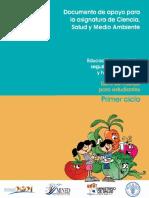 Libro de Trabajo Para Estudiantes. Primer Ciclo - Documento de Apoyo de La Asignatura Ciencia, Salud y Medio Ambiente