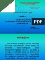LA CUENCA HIDROGRÁFICA,  SU CONTRASTE CON LOS PROCESOS DE DEGRADACIÓN Y DESERTIFICACIÓN