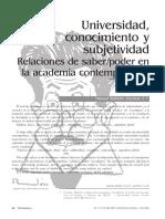 universidad, conocimento e subjetividad.pdf