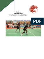 Reglamento Del Badminton