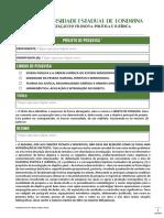 Filpoljur Formulário Projeto de Pesquisa Definitivo 2014