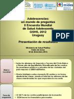 Segunda Encuesta Mundial Salud Estudiantil (GSHS) Uruguay