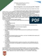 Primer Examen Parcial de Auxiliares de Diagnóstico