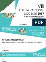 VIII fórum nacional docente - professores.pptx