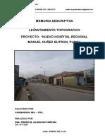 Envio Memoria Topografica Hospital de Puno