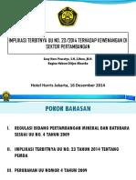 Bahan Paparan Implikasi UU 23 2014 - Hotel Harris Desember 2014