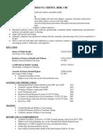 resume public health for website