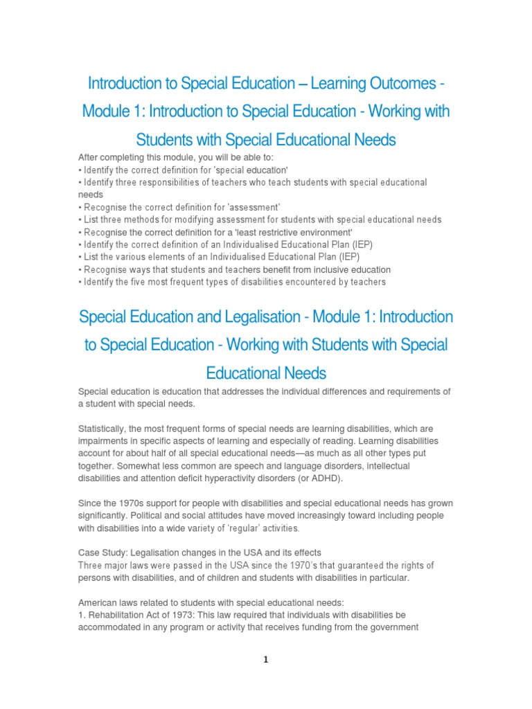 introduction to special education | special education