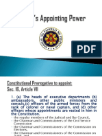 President's Appointing Power