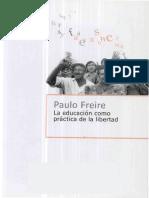 FREIRE Soc Cerrada Iexp Dem - Educacion vs Masif