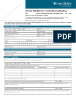 Singapore Dental Claim Form Interactive M003 60E 010115