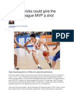 The Mavericks Could Give the Chinese League MVP a Shot
