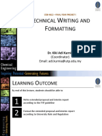 Technical Writing and Formatting