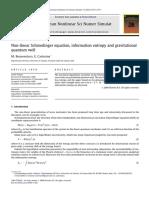 2010 Bonaventura M. Castorina E. Comm. Nonlinear Sci. Numer. Simul. Non Linear Schroedinger Equation, Information Entropy and Gravitational Quantum Well 15