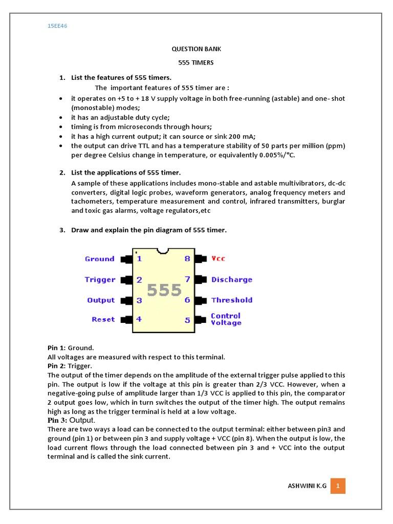 555 Qb Electrical Engineering Electronics Logic Diagram