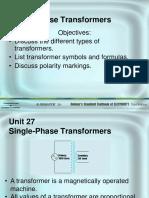 1 Phase Transformer