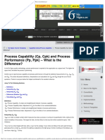 Process Capability (Cp, Cpk) and Process Performance (Pp, Ppk) - What is the (1)
