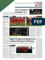 La Provincia Di Cremona 18-06-2017 - Torneo Dossena - Pag.1