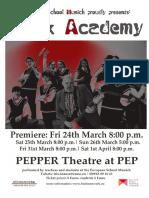 Rock Academy Flyer
