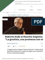 Roberto Andò Al Maschio Angioino Di Nap...Tro_Danza - Spettacoli - Repubblica