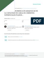 Modelacion Numerica en Abaqus Cae de La Capacidad de Carga de Cimientos Superficiales Planos y Laminares