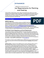 Env Req for Applying Paint and Coatings
