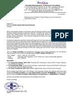 Undangan Dan TOR Unit Cost ProQua