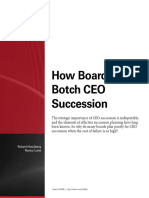 How Boards Botch CEO Succession