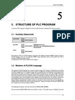 Structure of PLC Program