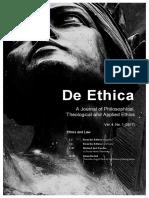 De Ethica17v4i1 Complete Issue