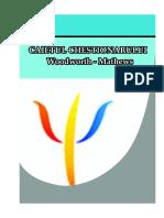 Caiet Chestionar Woodwhorth - Mathews
