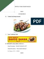 Proposal Usaha Bakso Bakar