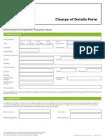Change of Details Form
