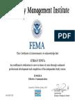 FEMA - Effective Communications Certificate