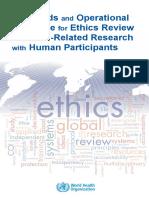 WHO Standar & Pedoman Etik
