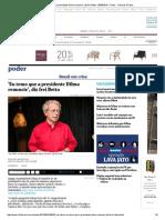 'Eu Temo Que a Presidente Dilma Renuncie', Diz Frei Betto - 09-08-2015 - Poder - Folha de S
