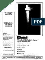 Watersoftner UltraSoft 400 - Manual