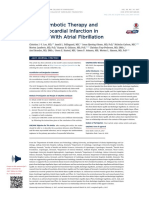 Antithrombotic Therapy and First Myocardial Infarction in Patients With Atrial Fibrillation