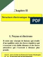 Rayonnements 2 FEZ structure électronique des atomes