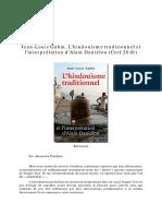 L'Hindouisme Traditionnel et l' interprétation d' Alain Daniélou- Jean-Louis Gabin