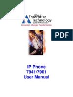 IP Phone 7941-7961 User Manual